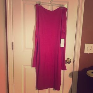 Just Fab Pink Off Shoulder Dress